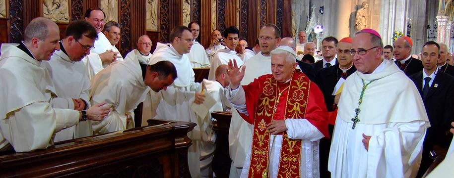 Papst Benedikt XVI in Heiligenkreuz 2007